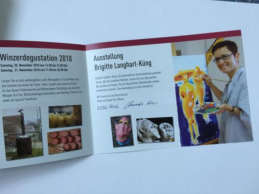 Wein und Kunst 2010 - Einladung