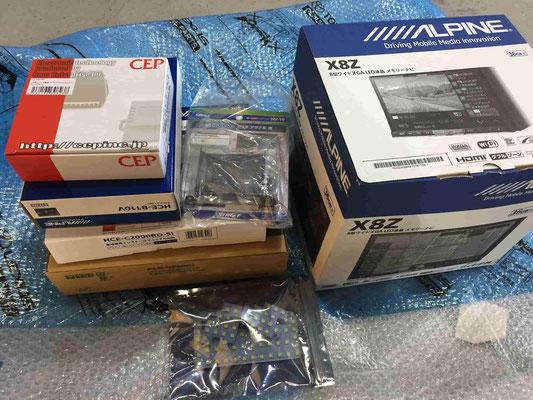 アルパインナビ、ETC、ドライブレコーダー、販売取り付け