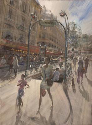 Métro Saint Michel - 81x60 cm