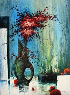 Bouquet rouge - 100x73 cm