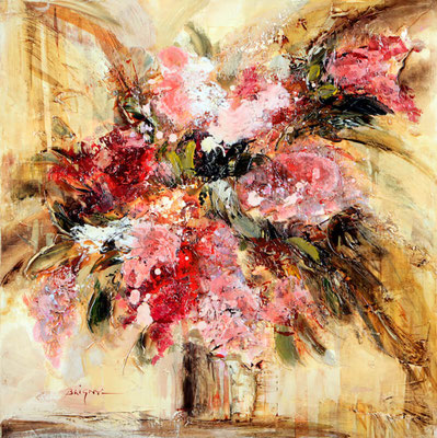 Bouquet abstrait - 50x50cm