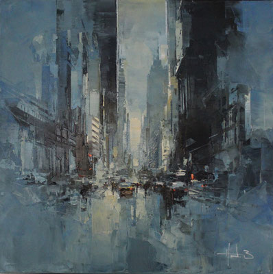 Morning on five Avenue NY - 60x60 cm