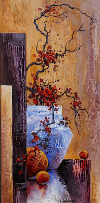 Le vase bleu - 30x60 cm