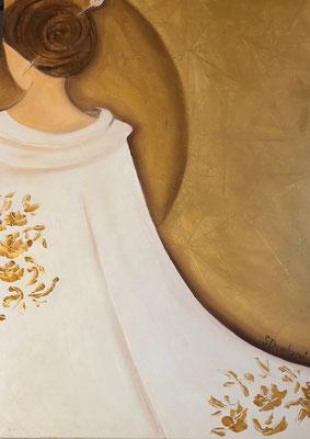 Sylvie DEMBRONT-MENUGE - Technique mixte sur toile - Par la Porte d'or - 73x54cm