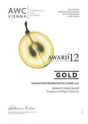 AWC Gold Weingut Franz Bayer Königsbrunn am Wagram Niederösterreich Austrian Wine