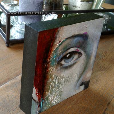 Mini-Gemälde auf MDF-Block