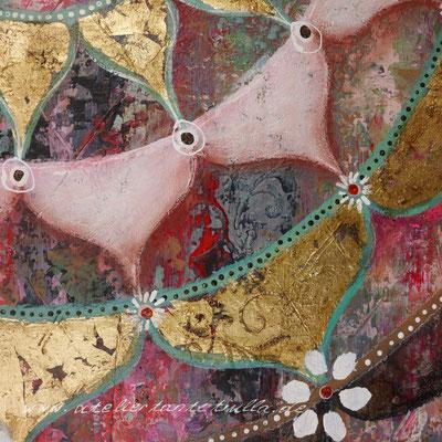 Gemälde Mandala mit Blattgold