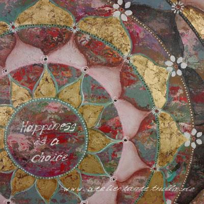 Mandala Gemälde mit Blattgold