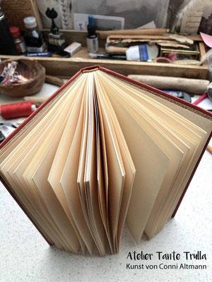 Buch von hand gebunden, Notizbuch