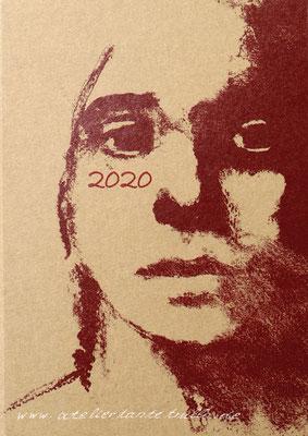 Kalender 2020 Naturkarton Wurzelholz