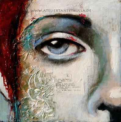 Mini-Gemälde Auge Frau