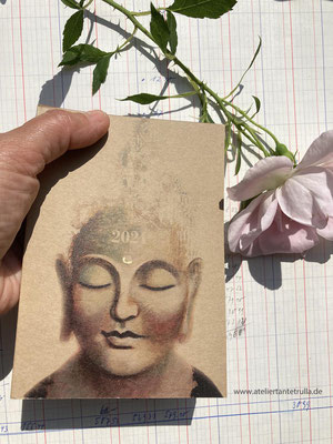 buddha kalender 2021 wochenplaner DIN A6 für Traveler's Notebooks