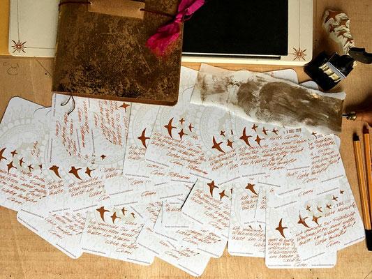Weihnachtspostkarten schreiben
