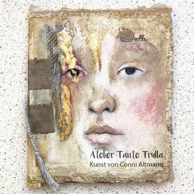 handgemachtes Mini-Buch mit Original-Gemälde
