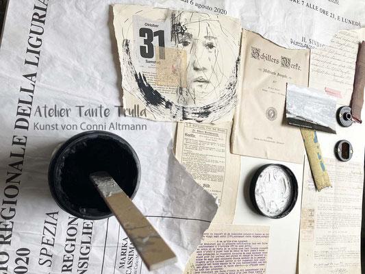 Collage Tür Atelier Tante Trulla