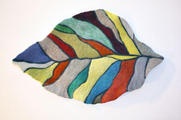 "Fall Mountain by EunKyung Jeong  Fiber Art/ Felting 25.5 x 41.5"" x 1""  $1600"