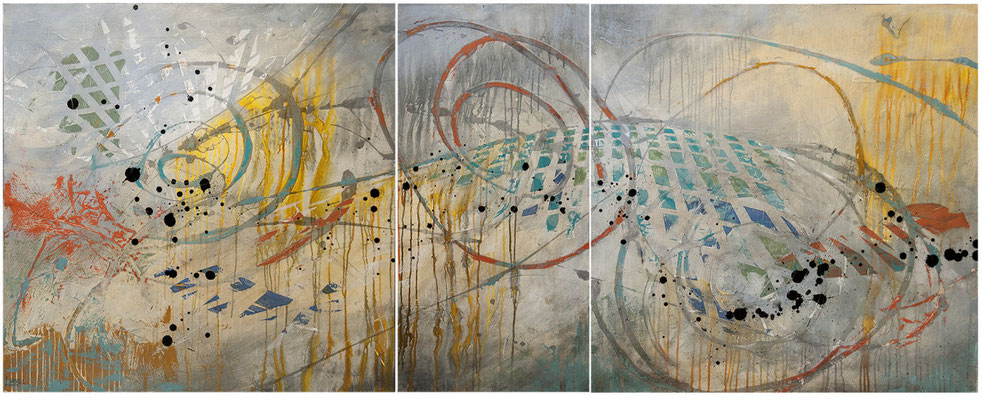 We're In This Together   90x36  Triptych   $4200