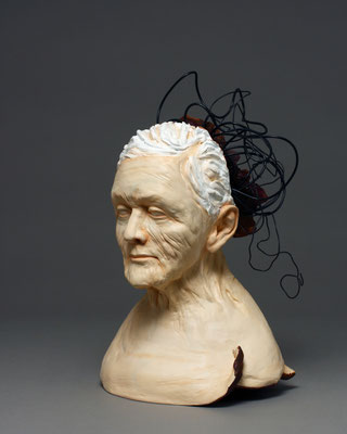 LONELY GIRL RM 101, CONSTANCE MCBRIDE (Ceramic, oxide pastel, wire) $900