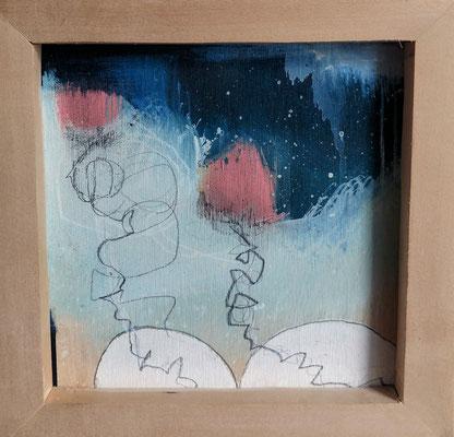THE ASCENSION (triptych)  Mixed Media  Jennifer Bricker-Pugh and Tarin Eicher         $600