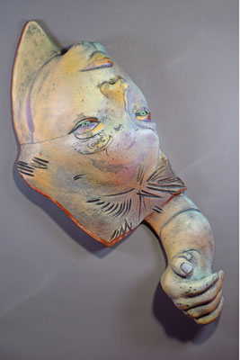Getting by in the age of covid by Suzanne Storer, ceramic mixed media  $4000