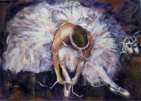 Ballet Love 2 by Diane Stolz, pastel  $1600