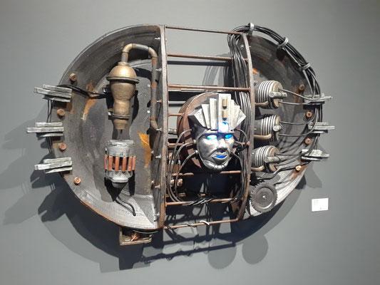 "Alternative energy Ceramic, wood, electronic 22"" x 40"" x 10""  Joshua Heimsoth  $8000"