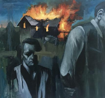 Untitled by Brian Bundren, oil on panel  $2000