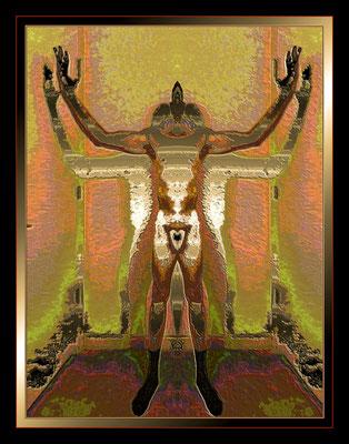 Pixelated Man, digital photograph by Richard Stevens  $250