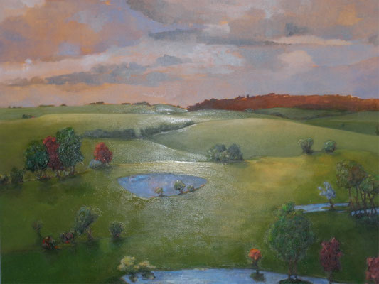 "Edge of Evening by David Gross, oil on Canvas 54"" x 54""  $4200"