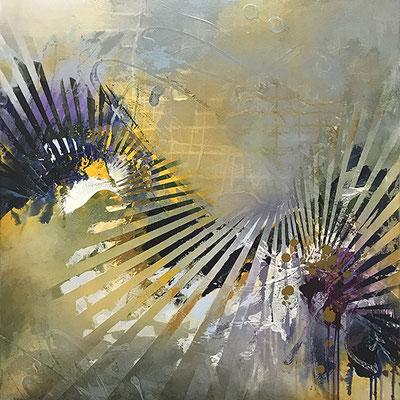 "Destine to Dream 36"" x 36"" acrylic on Canvas $1950"