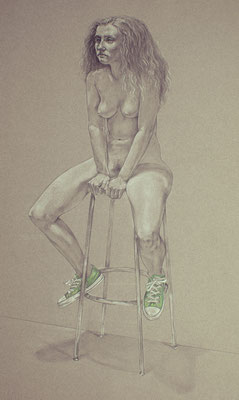 Green Shoes by Kevin Schroeder prisma pencils  $2600