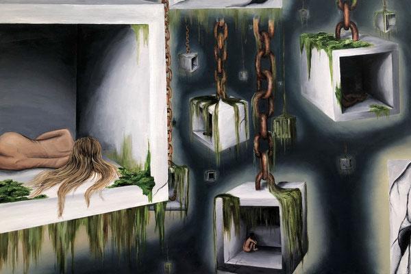 Mindscape by Autumn Nicole Smith  acrylic and oil on canvas  $4350