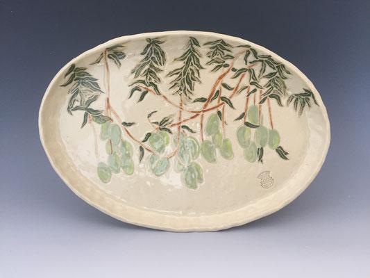 """Mango Grove by Caroline Elliott   ceramic 8.5"""" x 12.5 x 1.5""""  $220"""