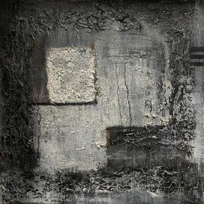 """Exit Strategy Mixed media on canvas 24"""" x 24"""" x 1.5""""  J. Kent Martin  $1650"""