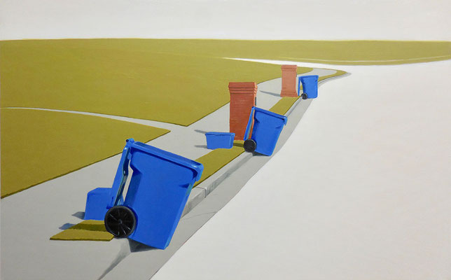 The Pick Up by Meg Aubrey   oil on panel  20 x 30 x 2  $3000
