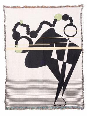 Untitled #4 by Julian Jones Fiber/Jacquard tapestry  $1250.00