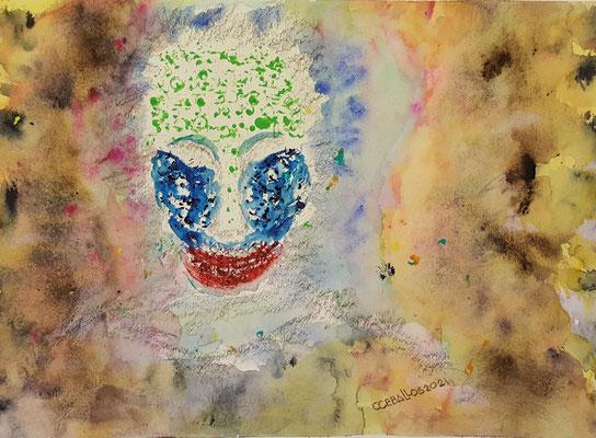 "Truth Revealed, Watercolor, 11"" x 15"" x .010"" Cesar Ceballos $371.00"