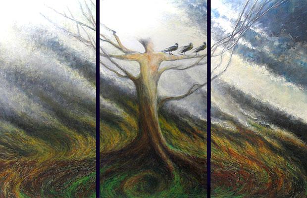 "The Rebirth Cycle Oil on Canvas 72"" x 114"" x 2.5""  Robert Sunderman $5950"