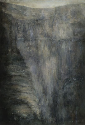 "Translating Landscape Icelandic Series by Lindsay Mullen   O/C  51"" x 31"" x1  $12,500"