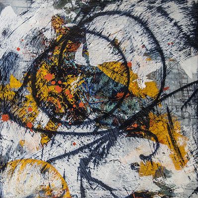 Back in a Flash  36 x 36  acrylic on Canvas  $1950