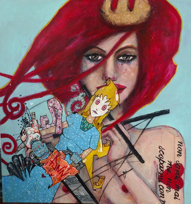 THE QUEEN'S MANIFESTO acrylic on wood panel Teresa Magel and Kevin Perkins $500