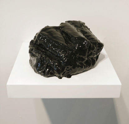 "Inferno 1 polystyrene, linen, rubber 3.75"" x 7"" x 5.25""  Marietta Leis   $650"