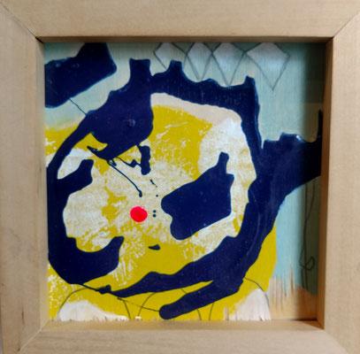 HOT PINK CRUCIFIXION (triptych)  Mixed Media Tarin Eicher and Jennifer Bricker-Pugh $600.00