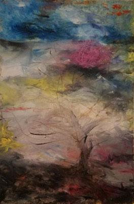 "Windswept Dreams  Oil, 36"" x 24"" x 0.50"" by Kathy Wilson  $1400"