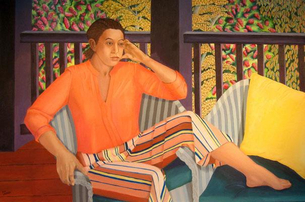 Saving your Place by Deborah LaCroix, oil on canvas  $6500