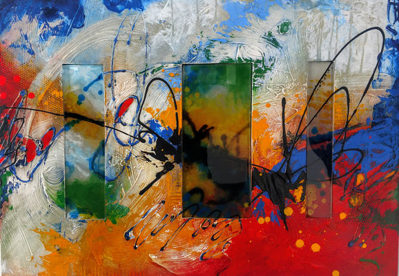 INNER LIGHT Acrylic on canvas and polyester resin  Lynette Ubel and Jennifer Walker  $2000