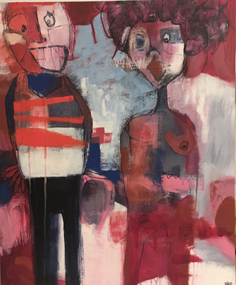 Dick and Jane, (Jane was unapologetically non-conforming, Dick struggled with this)  by Vikkie Drummond  $750