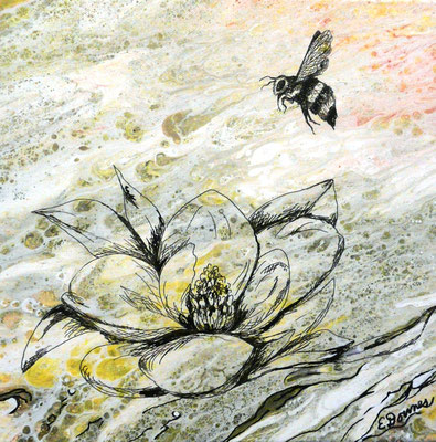 BEE AND MAGNOLIA  By Eileen Downes   $350