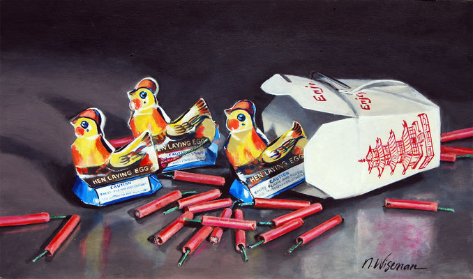 FIRECRACKER CHICKEN  By Natalie Wiseman $600