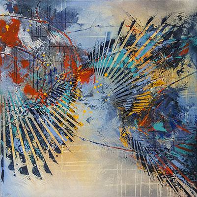 """Star Struck""  40""x 40""x1.5"" Acrylic on Gallery wrap canvas $2400"